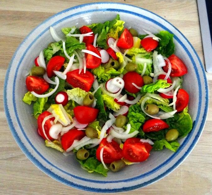 Rote Beete Gemüse,Kümmelkartoffeln,Salat,Quarkspeise,vegetarisch (13)