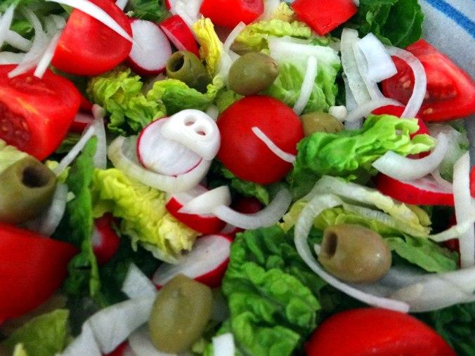 Rote Beete Gemüse,Kümmelkartoffeln,Salat,Quarkspeise,vegetarisch (14)