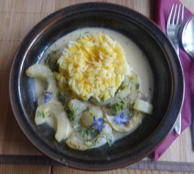 Schmorgurken,Reis,Eierpfannkuchen (16)