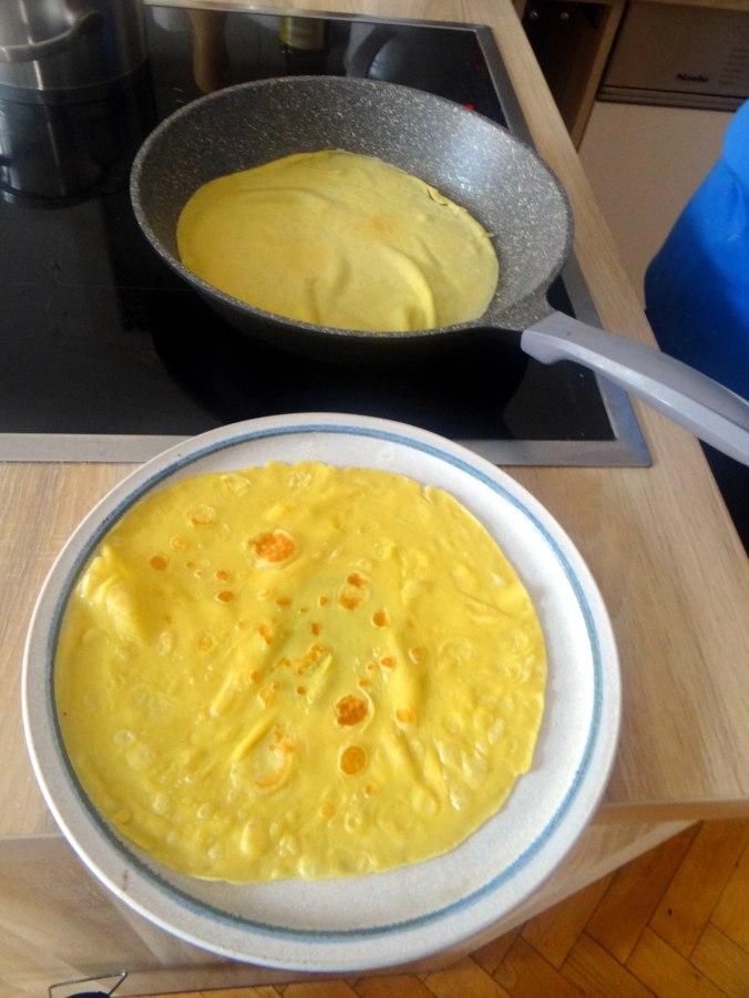 Schmorgurken,Reis,Eierpfannkuchen (19)