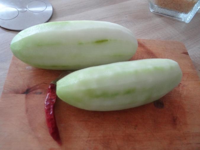 Schmorgurken,Reis,Eierpfannkuchen (8)