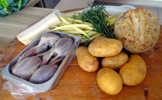 Wachteln,Kartoffel-Sellerie Stamp,Bohnensalat,Champignon (5)