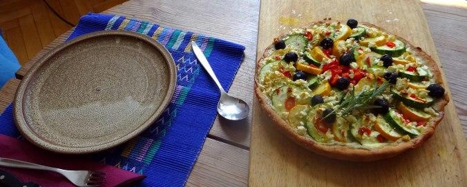 Zucchini Quiche,Quarkspeise, (4)