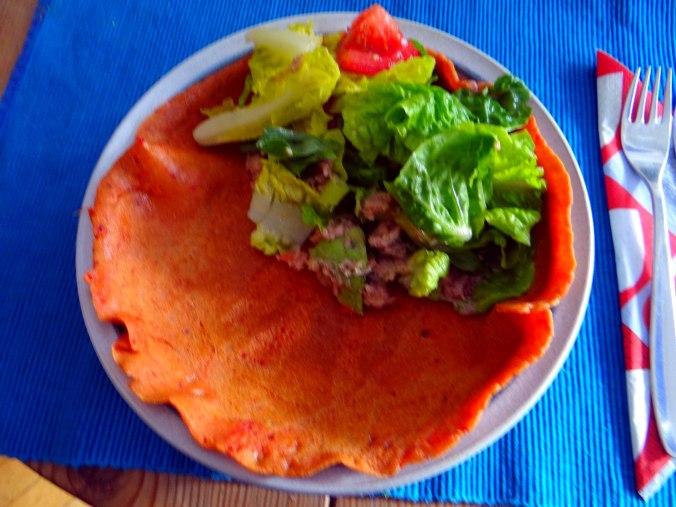 Buchweizen Pfannkuchen,Salat,pescetarisch (18)