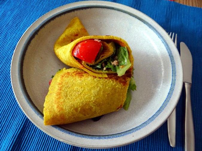 Buchweizen Pfannkuchen,Salat,pescetarisch (19)