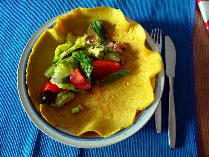 Buchweizen Pfannkuchen,Salat,pescetarisch (2)
