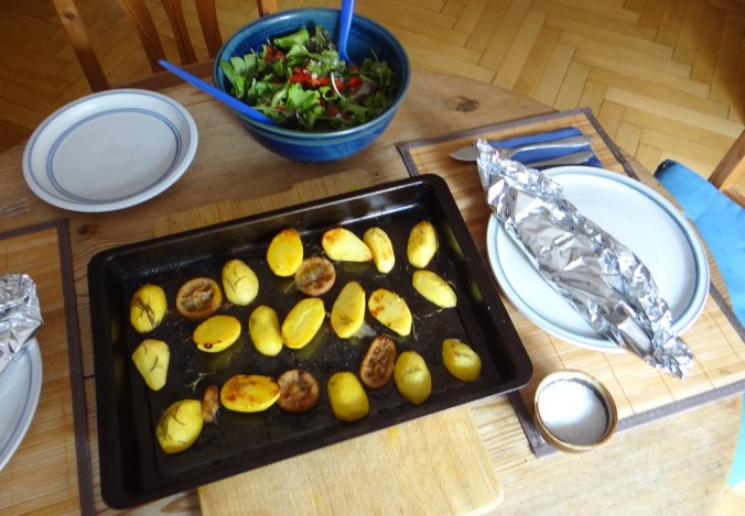 Forelle mit Zitronen Kartoffeln,Pflücksalat (11)