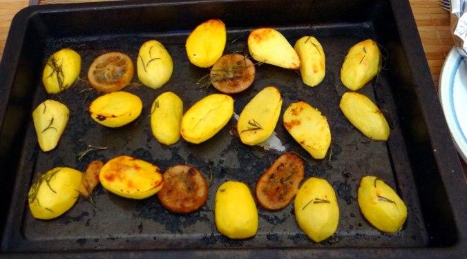 Forelle mit Zitronen Kartoffeln,Pflücksalat (3)