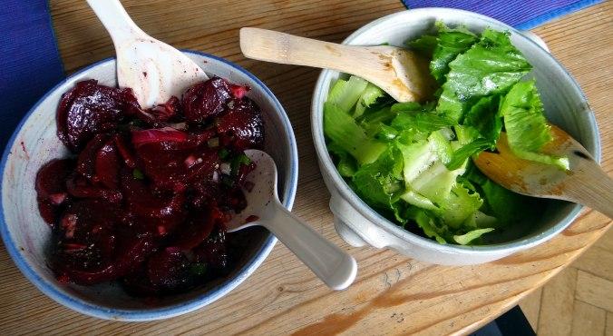 Herrzhafte Muffin,Rote Beete Salat,Geschmorte Radieschen,Tomaten mit Mozarella,Römersalat (18)