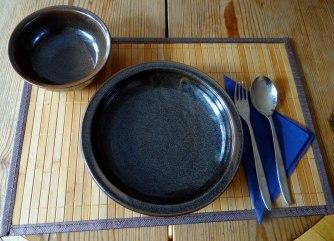 Hirsotto mit Champignon,Salat,Joghurt Eis,vegetarisch (17)