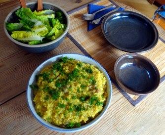 Hirsotto mit Champignon,Salat,Joghurt Eis,vegetarisch (18)
