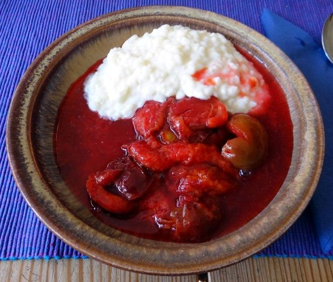 Reisbrei,Pflaumenkompott,Smoothie,vegetarisch (1)