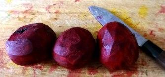 Rote Beete Gemüse,Möhrensalat,gebratener Feta,Pellkartoffeln,vegetarisch (6)