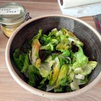 Süß-saures Auberginengemüse,CousCous,Salat,vegetarisch (9)