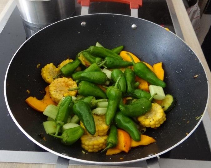 Wok Gemüse,Couscous,Gurkensalat (13)