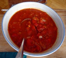 Zucchini Zoodles,Tomatensauce,Tomatensalat,vegetarisch (12)