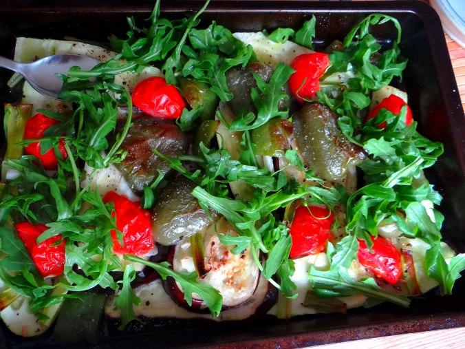Glasierte Süßkartoffeln und Ofengemüse (14)
