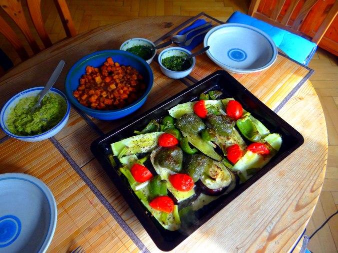Glasierte Süßkartoffeln und Ofengemüse (3)