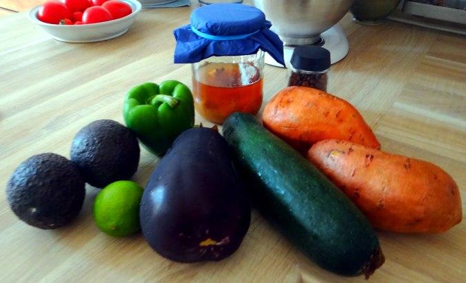 Glasierte Süßkartoffeln und Ofengemüse (5)