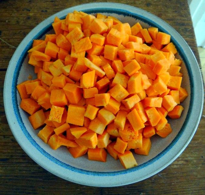 Glasierte Süßkartoffeln und Ofengemüse (6)