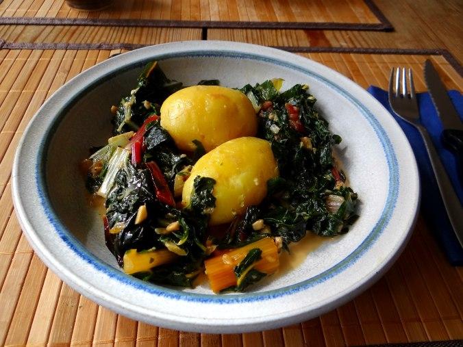 Mangold,Pellkartoffeln,Frische Feigen,Vegetarisch (14)