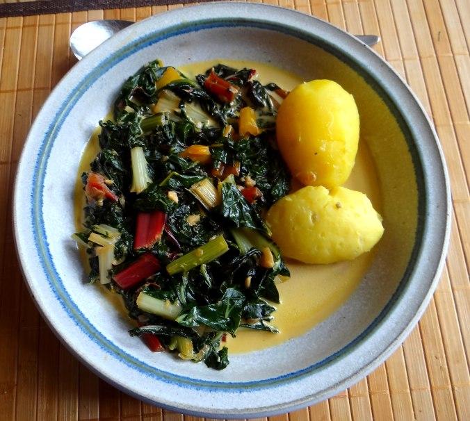 Mangold,Pellkartoffeln,Frische Feigen,Vegetarisch (2)