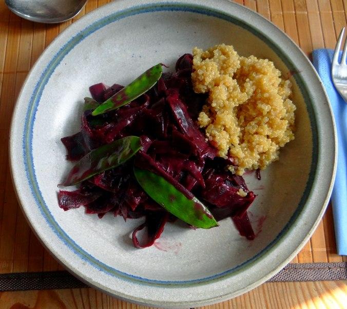 Schwarze Möhren mit weißem Quinoa (13)