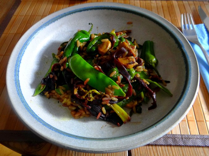 Wokgemüse mit Reis (1)
