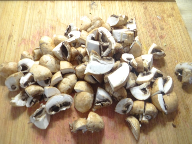 Austernpilz Risotto,Chamignon,Käse Cräcker,Salat,Quitten (12)
