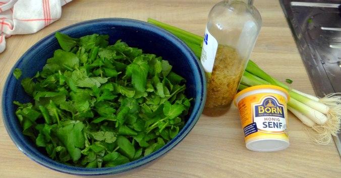 Hallimasch,Brunnenkresse,pochiertes Ei ,vegetarisch(11)