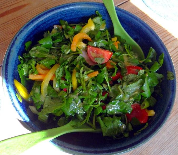 Hallimasch,Brunnenkresse,pochiertes Ei ,vegetarisch(13)