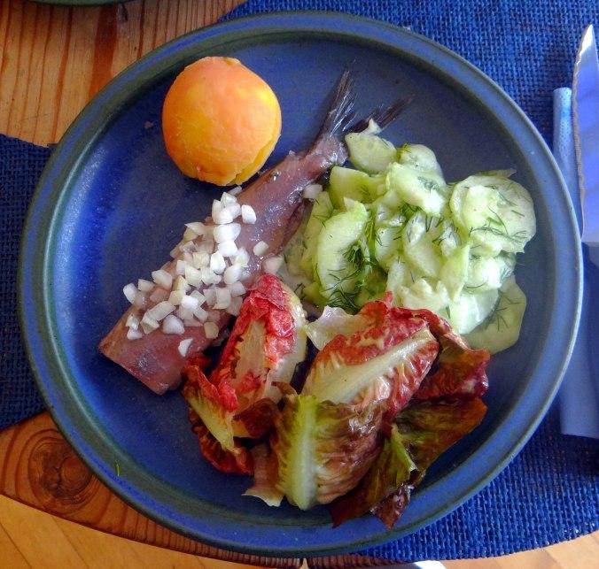 Matjes,Salate,Pellkartoffeln (2)