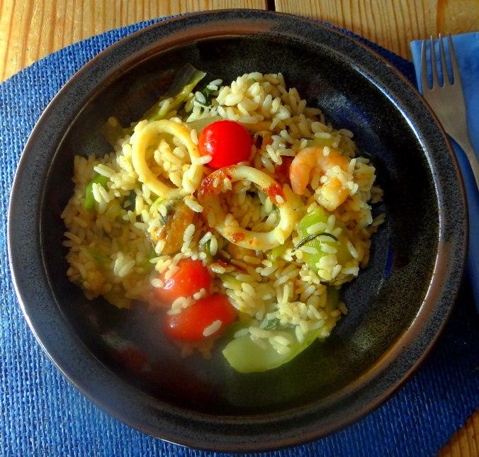 Meeresfrüchte,Pak Choi,Reis (2)