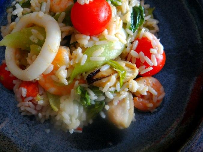 Meeresfrüchte,Pak Choi,Reis (3)