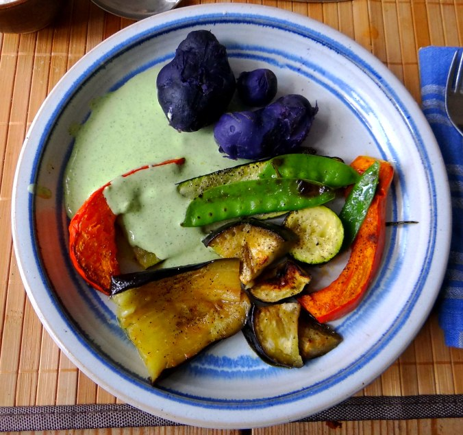 Ofengemüse,Lila Kartoffeln,Joghurt Dip (14)