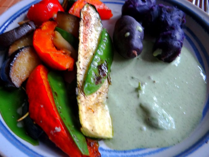 Ofengemüse,Lila Kartoffeln,Joghurt Dip (15)