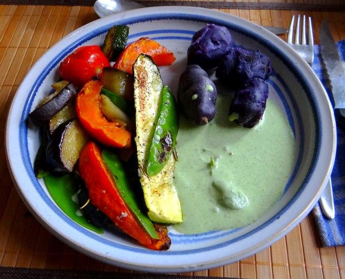 Ofengemüse,Lila Kartoffeln,Joghurt Dip (16)