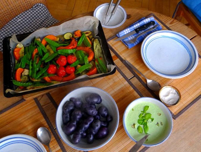 Ofengemüse,Lila Kartoffeln,Joghurt Dip (4)