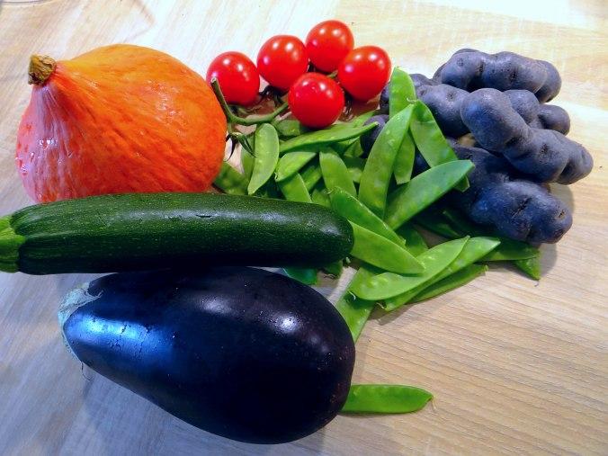 Ofengemüse,Lila Kartoffeln,Joghurt Dip (5)