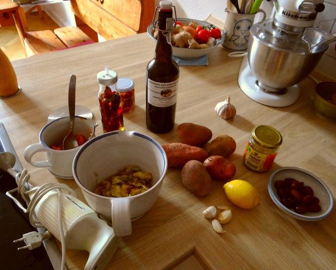 Orientalische Spezialitäten,Baba Ganoush,Süßkartoffel Pommes (13)