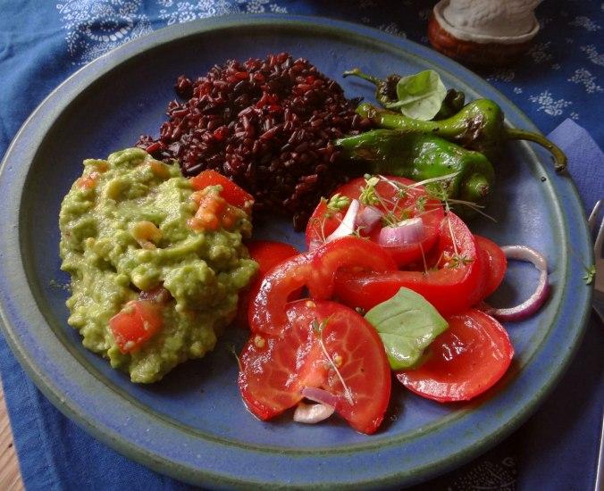 Reis,Guacamole,Pimientos,Salate,vegan (14)