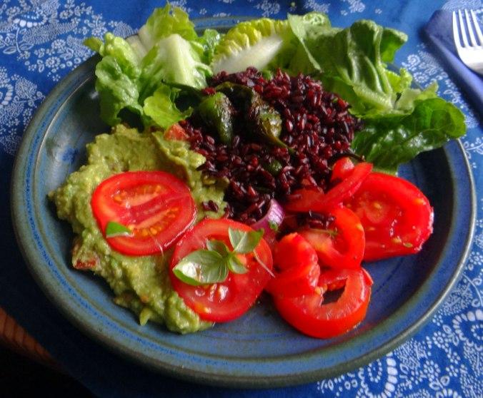 Reis,Guacamole,Pimientos,Salate,vegan (15)