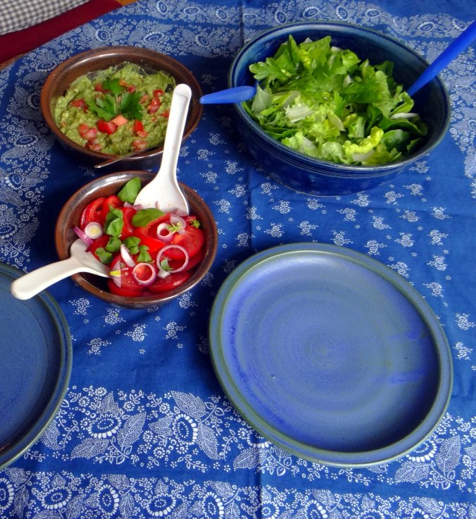Reis,Guacamole,Pimientos,Salate,vegan (4)