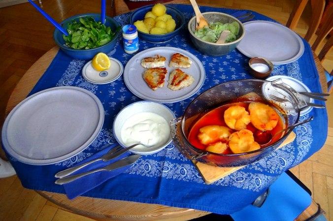 Rotbarsch,Salate,gebackene Quitten (5)