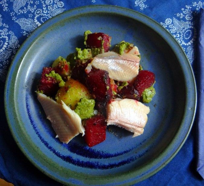 Rote Beete,Kartoffeln,Salsa, (18)