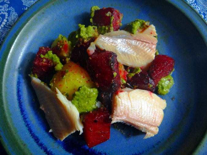 Rote Beete,Kartoffeln,Salsa, (2)