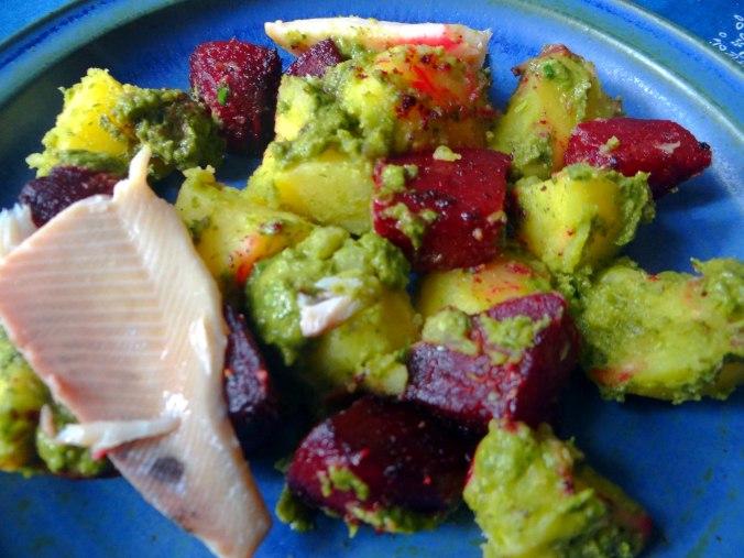 Rote Beete,Kartoffeln,Salsa, (20)