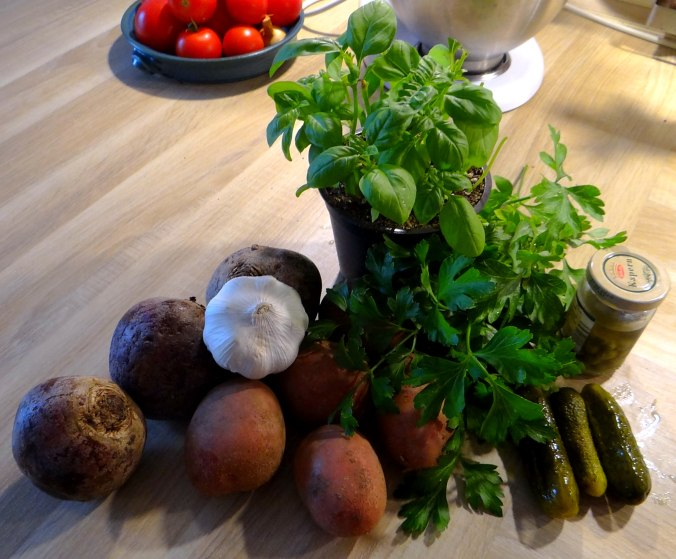 Rote Beete,Kartoffeln,Salsa, (5)