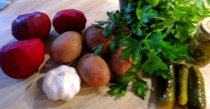 Rote Beete,Kartoffeln,Salsa, (7)