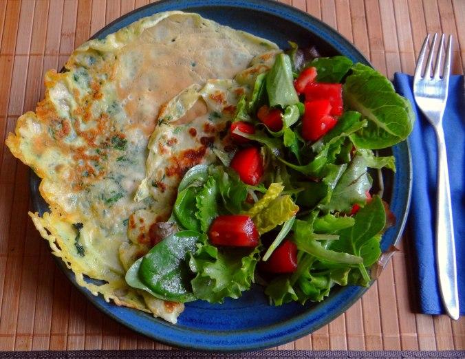 Eierpfannkuchen mit Spinat,Pflücksalat (16)